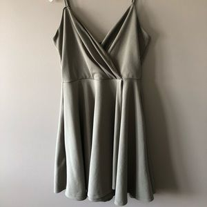 Light green knee length dress